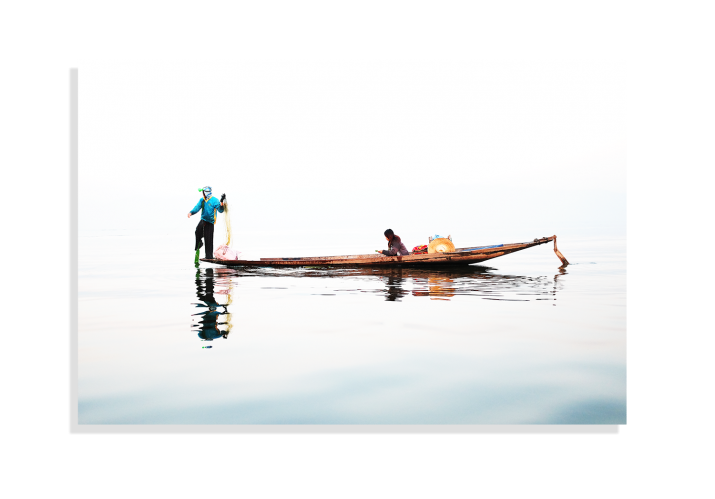Le couple des pêcheurs - Lise Hébuterne